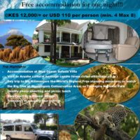 Weekend Getaway to Mt. Kilimanjaro - Free accommodation for one night!!!
